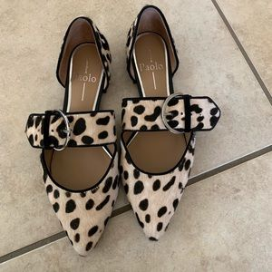 Cheetah flats with a buckle!